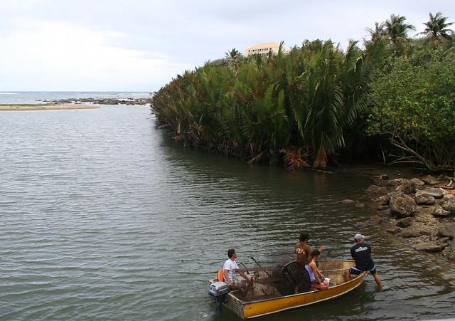 Family Hunts in the River