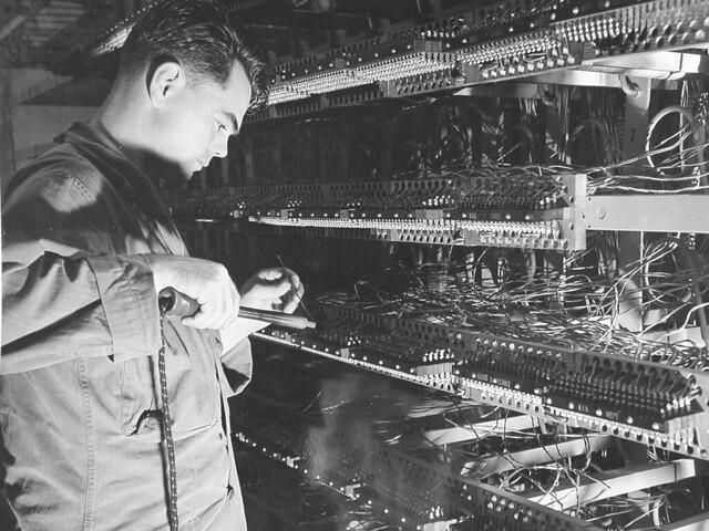 Telephone Exchange, 1945