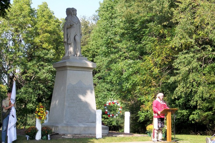Menominee statue rededication