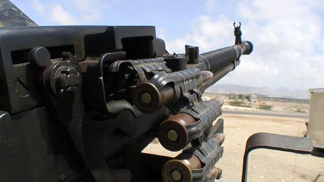 Well-armed escort in Yemen