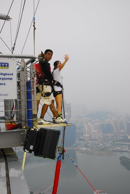 Macau Tower Bungee Jump!