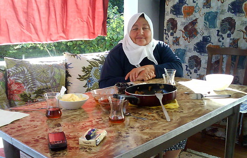 A Turkish woman and breakfast