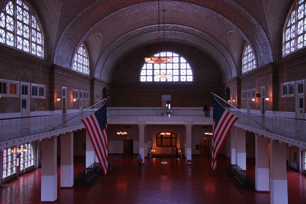 Ellis Island hall end
