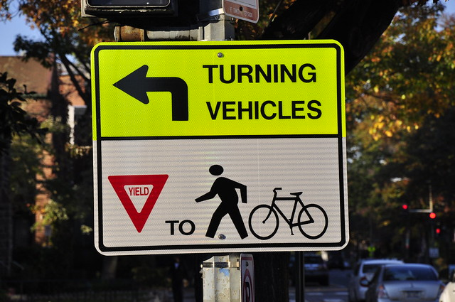 Left Turn Yield to Bikes/Peds