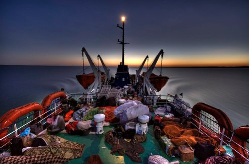 Dawn on the ferry from Aswan, Egypt to Wadi Halfa, Sudan (HDR)