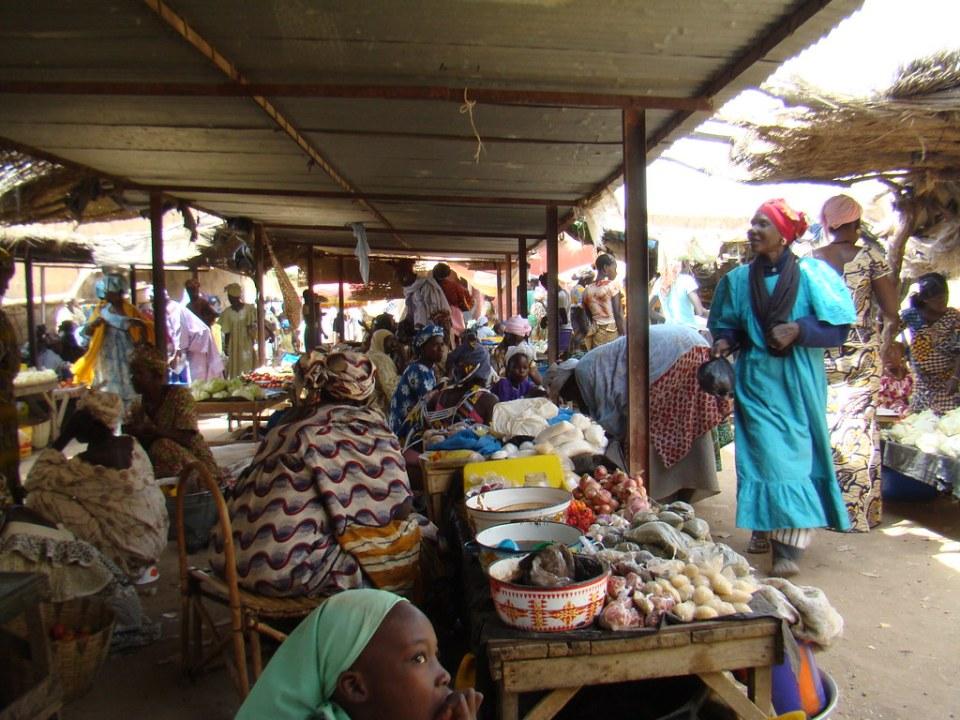mercado de frutas y verduras Djenne Mali 18