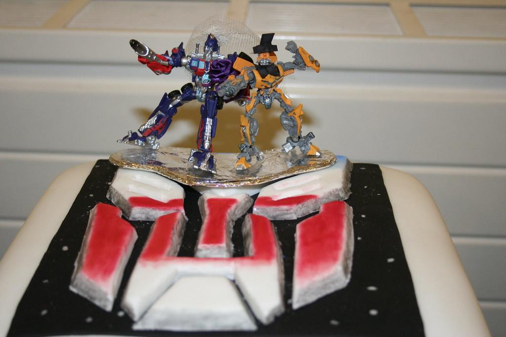 Homemade Transformers Wedding Cake
