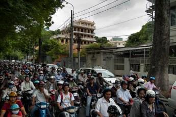 Moped-Verkehr