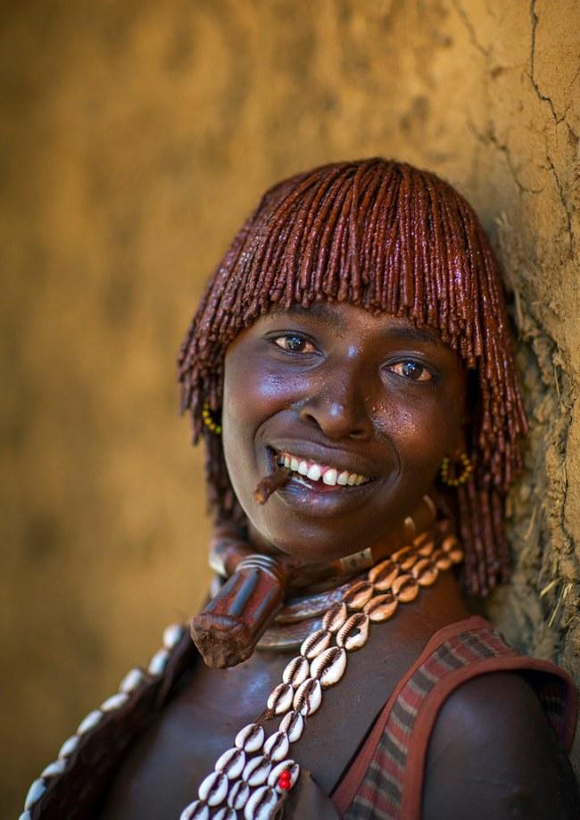 Hamer Tribe Woman, Turmi, Omo Valley, Ethiopia