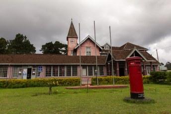 Het postkantoor van Nuwara Eliya waar de Engelsen zich graag vestigden