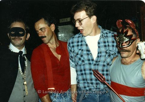 P099.060m.r.t Halloween: four men in costumes