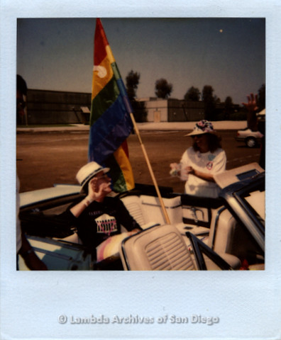 Jess Jessop at San Diego Gay Pride, c.1989