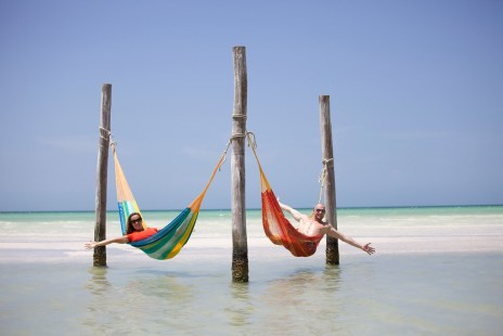 Both in hammock, Isla Holbox