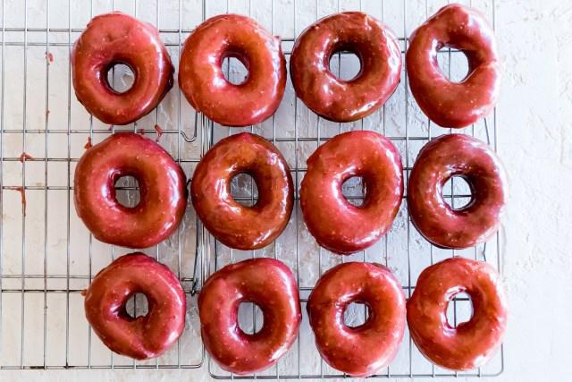 strawberry glazed donuts