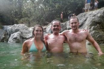 Maar gelukkig konden we af en toe ook zwemmen in de rivier.