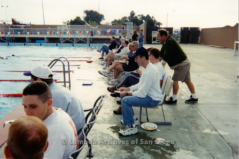 P263.008m.r.t Bart Hopple Memorial Swim: Audience watching swimmers
