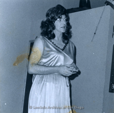 P355.070m.r.t MCC Oceanside Benefit 1976: Man dressed as a woman