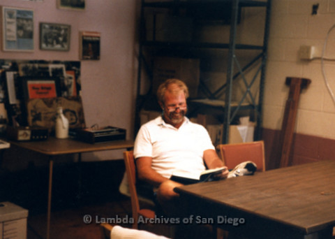 "P243.007m.r.t Jim ""Dad"" Oberle at Lambda Archives of San Diego 5th Avenue location"