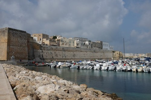 Harbor and old center of Otranto