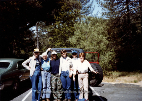 P008.032m.r.t Harvey Moore Trail 1983: Group photo (L to R) Barbara Washburn, Margaret Lewis, Mary Revere, Sandy Johnson, Diane F. Germain, and Gretchen Alspach