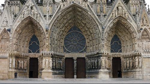 Reims Cathedral West Portals Cath 233 Drale Notre Dame De
