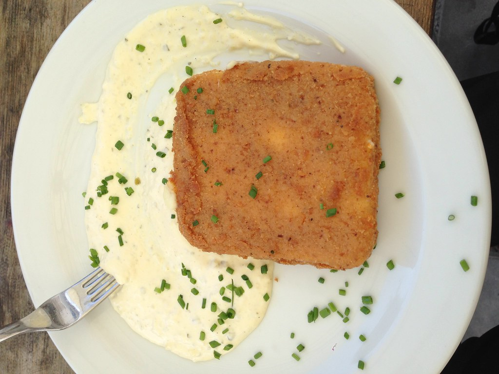 Fried Cheese with Tartar Sauce