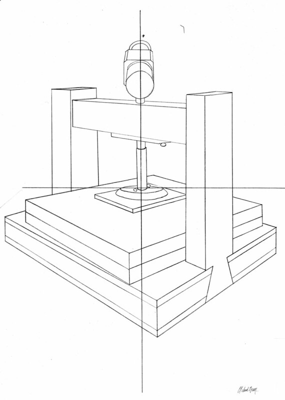 Wooden Press Layout for Shading Types Assignment - Pencil