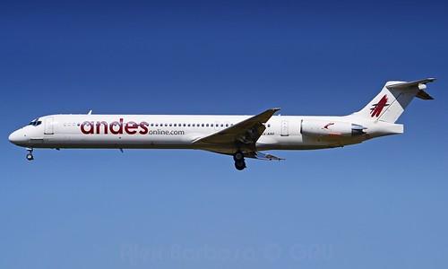 LV-ARF Andes Líneas Aéreas McDonnell Douglas MD-83 - cn 49252 / 1169