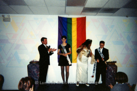 P240.029m.r.t Gay Teen San Diego: Mr. and Ms. Gay Teen San Diego being awarded on stage
