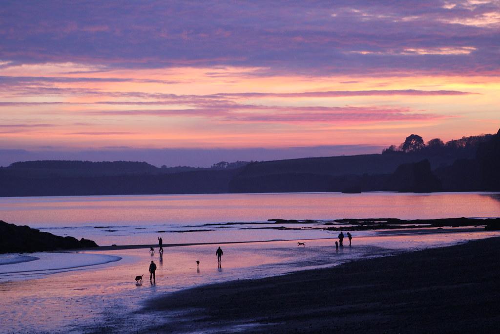 Sidmouth, Devon - Sunset Dec 2016