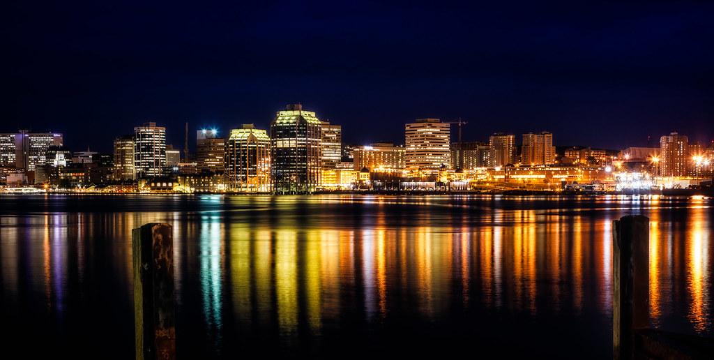 Halifax Skyline At Night Pat O Malley Flickr