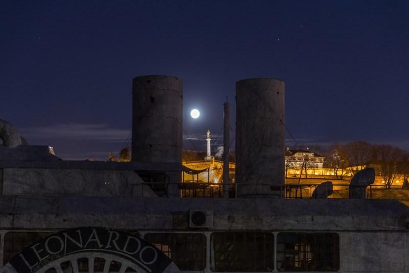 Moonlight over Belgrade