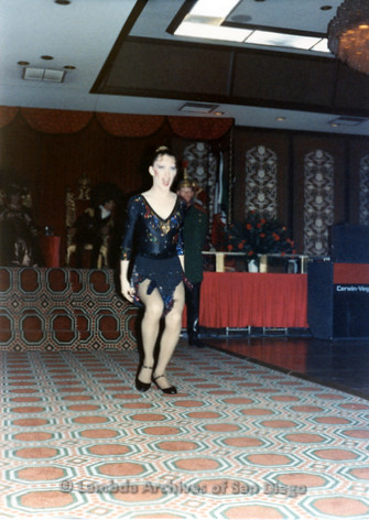 1983 - Imperial Court de San Diego Coronation Ball: Unidentified member of the Imperial Court performing during the Coronation.