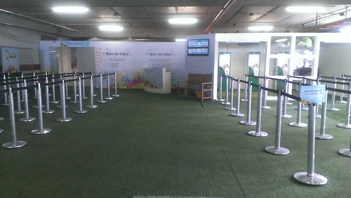 Empty World Cup ticket center in Recife