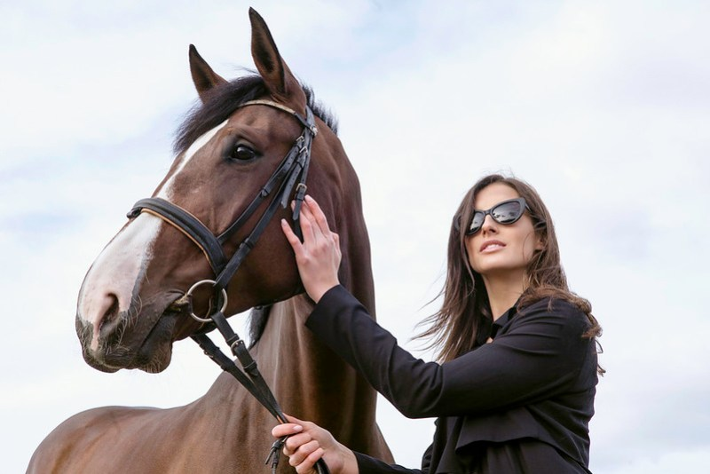 Model and her Horse