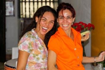 De eerste wedstrijd keken we bij haar vriendin Yina thuis.