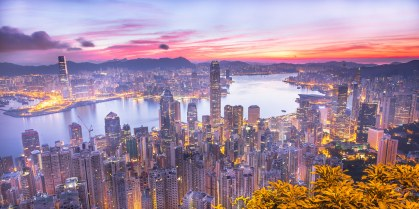 A Vivid Hong Kong's Summer Morning