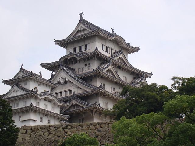 Approaching Himeji Castle
