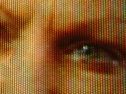 Television Face Close-up