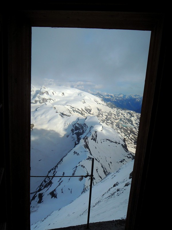 View from the door, Solvay Hut by bryandkeith on flickr