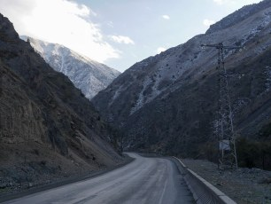 The start of the mountainous road from Bishkek to Osh | Jan, 2016