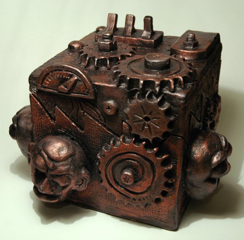 Ceramic Steampunk Box