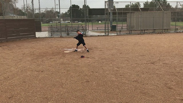 Alex hits the ball to the opposite field