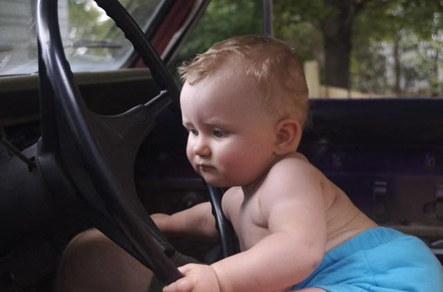 Girl in Truck
