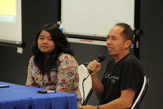 Sarah Guzman and Simeon Palomo at FestPac Workshop 1, 2014