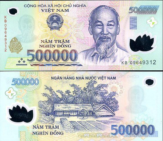 500 000 Dong Vietnam 2003-8, polymer Pick 124