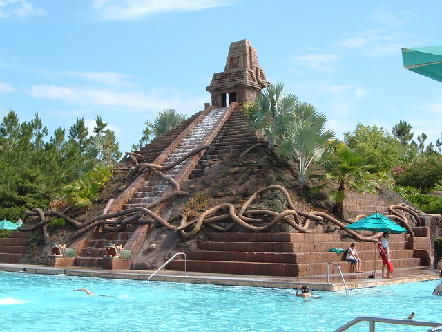 Coronado Springs Pool Aztec Pyramid