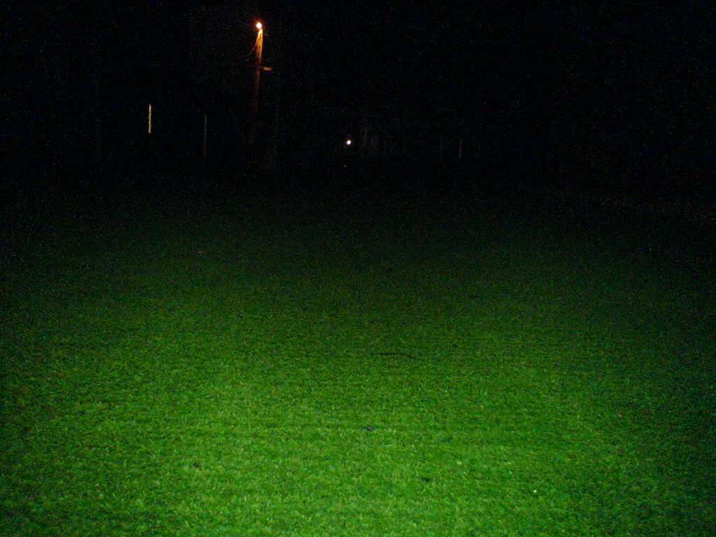 Astroturf Lawn At Night Just Off Of Fraser On 45th Or