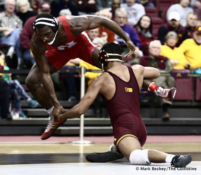 184 #3 TJ Dudley (Nebraska) dec.Bobby Steveson (Minnesota) 6-2