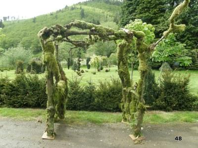 organic wedding arch